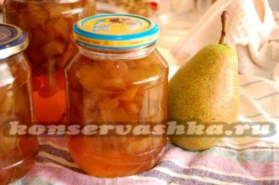 рецепты грушевого варенья