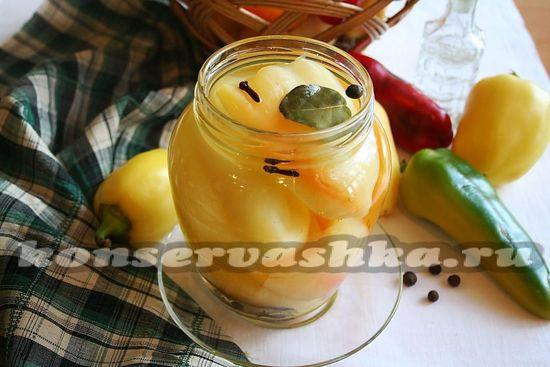 рецепт сладкого перца маринованного