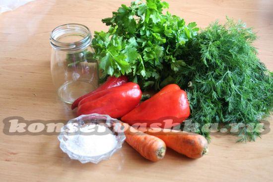 Ингредиенты для приготовления суповой заправки