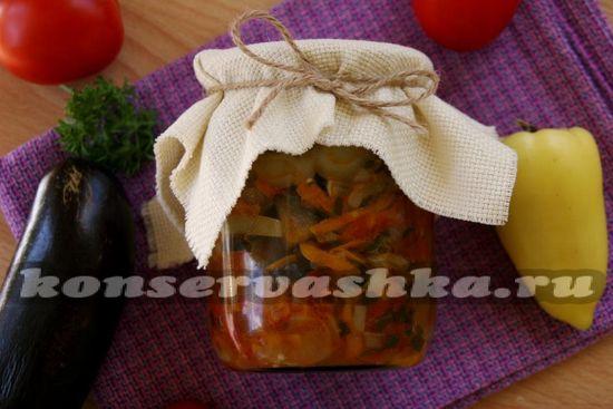 рецепт соте из баклажанов на зиму