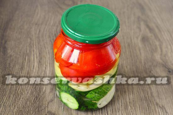 укладываем овощи