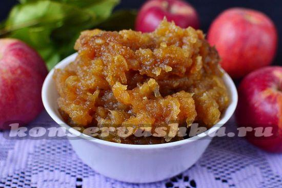 Густое яблочное повидло для пирожков на зиму