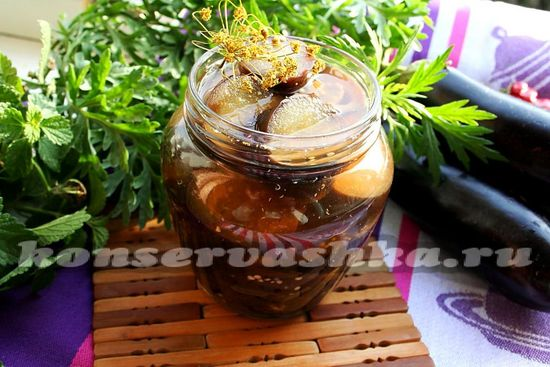 баклажаны в маринаде, рецепт с фото