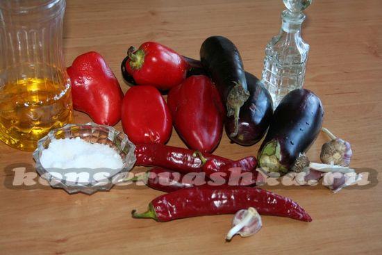 ингредиенты для приготовления заготовки