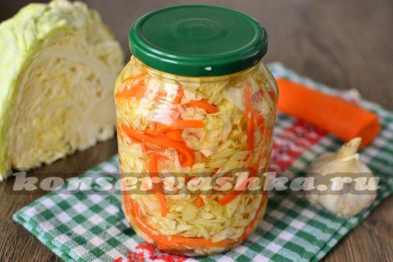 рецепт маринованной капусты на зиму очень вкусная