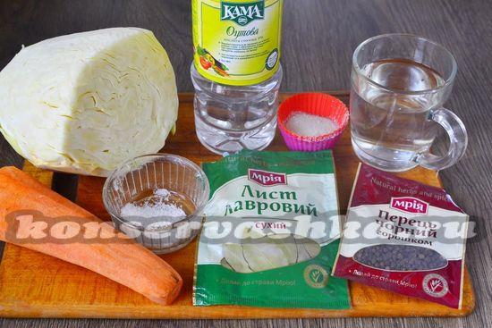 Ингредиенты для приготовления квашенной капусты