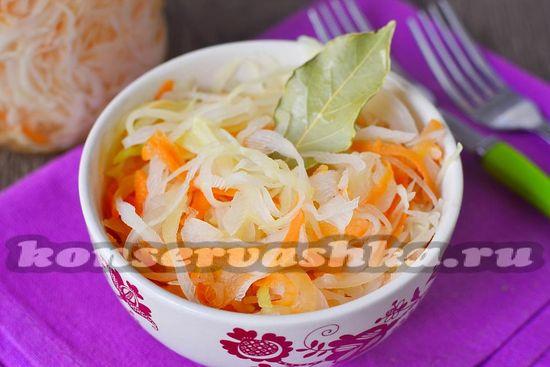 рецепт квашенной капусты за сутки
