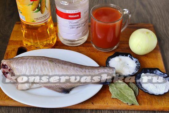 Ингредиенты для приготовления холодной закуски с мантаем