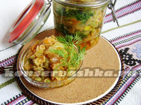 Кабачковая икра по-грузински - рецепт с фото