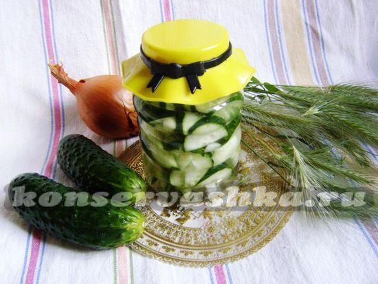 рецепт огуречного салата Нежин на зиму