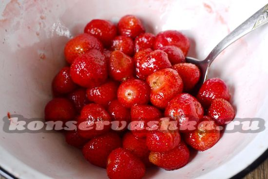 перекладываем ягоды
