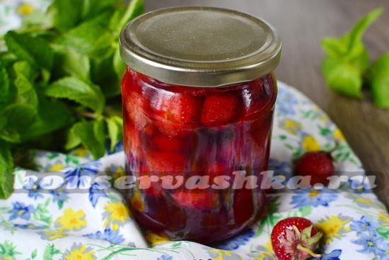 рецепт клубничного варенья без варки ягод