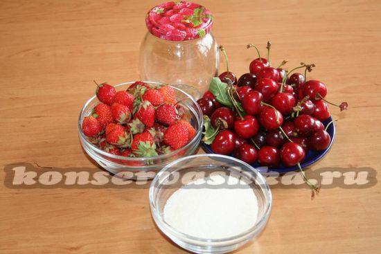 Ингредиенты для приготовления компота на зиму