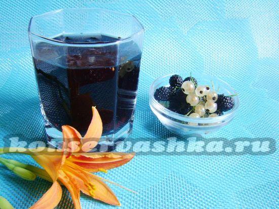 рецепт компота из белой смородины и ежевики на зиму