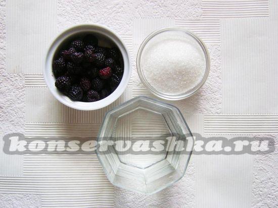 Ингредиенты для приготовления сок ежевики на зиму