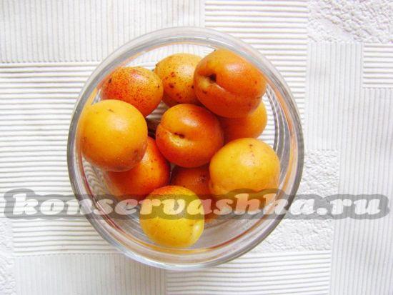 выложить абрикосы