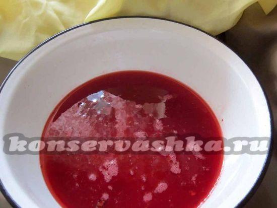 слить ягодный сок