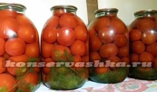 Помидоры с морковной ботвой на