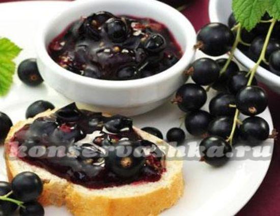 Варенье Пятиминутка из смородины черной