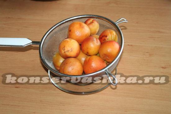 Подготовить абрикосы