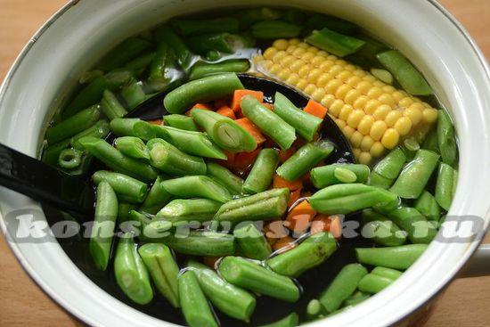 бланшируем овощи