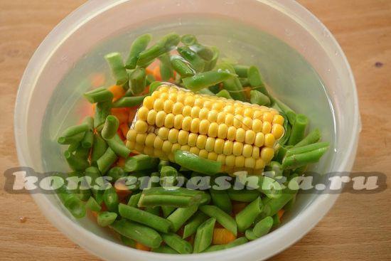 остудите овощи