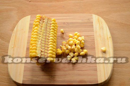 срежьте кукурузу
