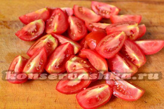 помидор нарезать