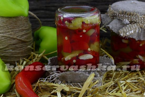 Закуска из перцев, острого и болгарского, на зиму: рецепт с фото