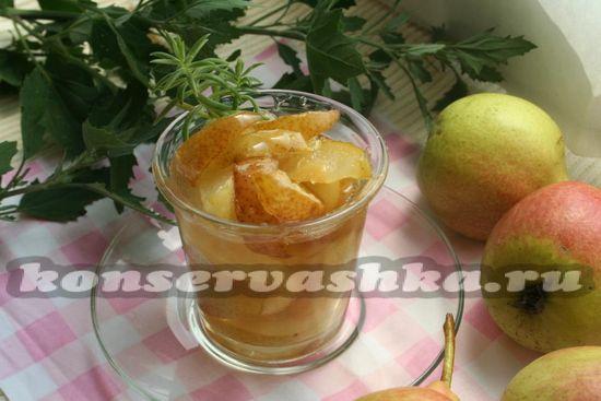 рецепт варенья из груш