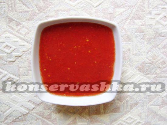 томаты измельчить блендером