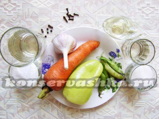 Ингредиенты для приготовления ассорти на зиму