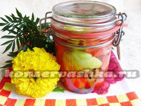 Маринованный сладкий перец с яблоками на зиму: рецепт с фото