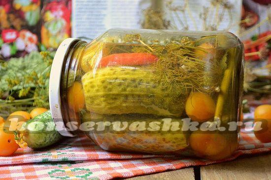 рецепт огурцов с алычой на зиму.