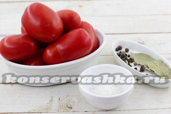 Ингредиенты для приготовления томатного сока с пряностями