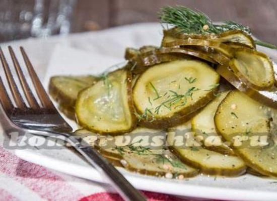 Салат из переросших огурцов на зиму: рецепты