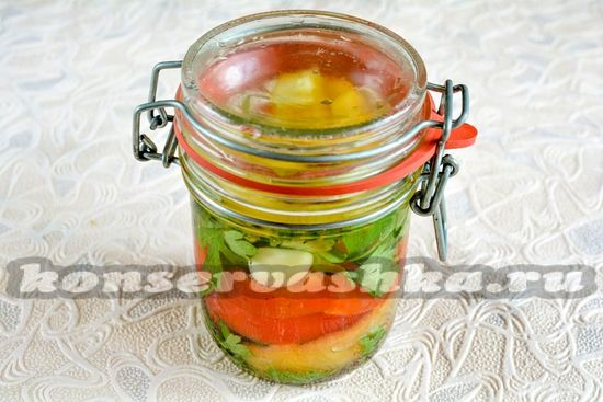 Маринованный перец с петрушкой и чесноком на зиму: рецепт с фото