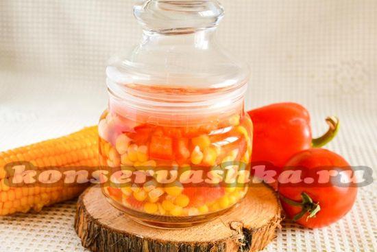 Кукуруза консервированная на зиму с овощами: рецепт с фото
