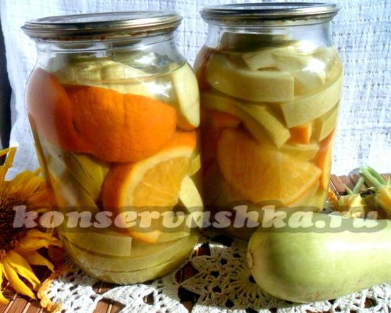 Рецепт кабачков как ананасов с апельсинами