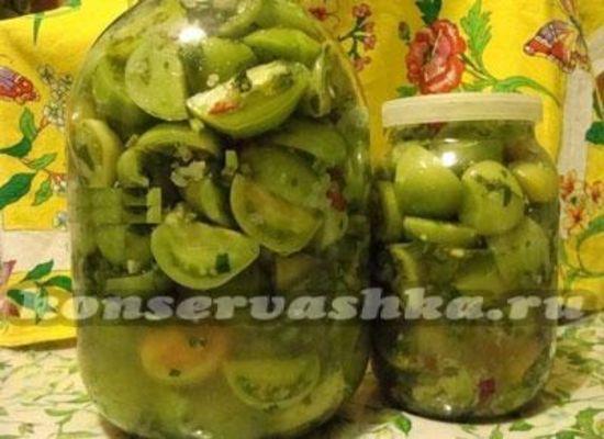 Салат из зеленых помидор на зиму: рецепты с фото пальчики
