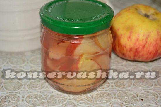 готовые яблоки