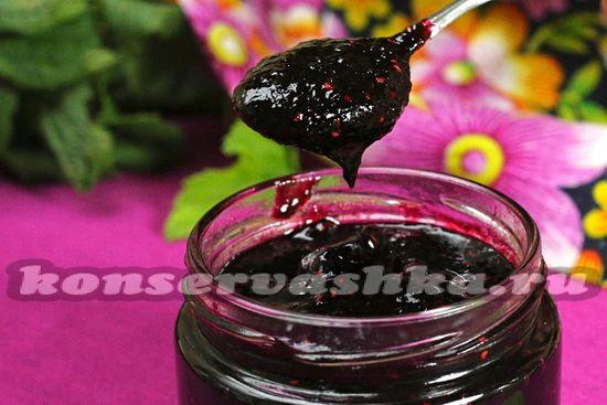 рецепт джема из черной смородины с малиной