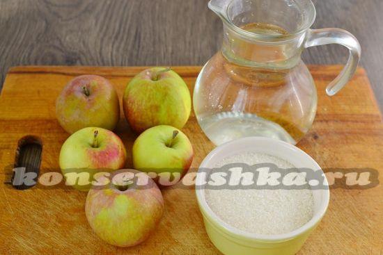 Ингредиенты для приготовления компота из яблок