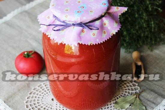 Рецепт томатного сока