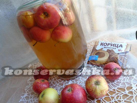 как приготовить яблочный компот из яблок и корицы