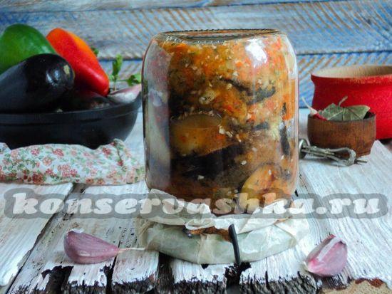Жареные баклажаны в остром соусе на зиму