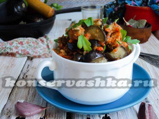 как приготовить жареные баклажаны в остром соусе на зиму