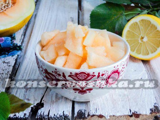 рецепт дыни в ванильном сиропе на зиму