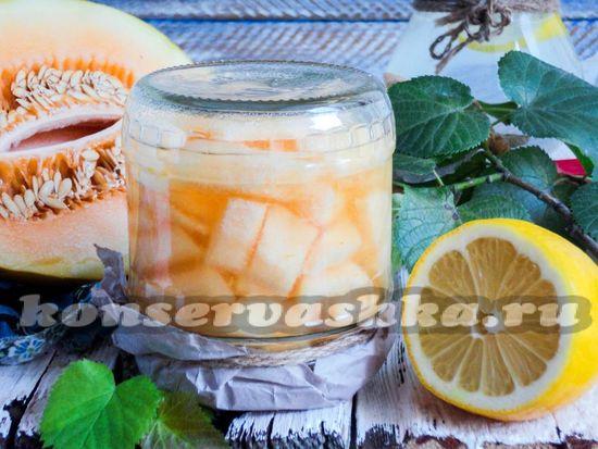 как приготовить дыню в ванильном сиропе на зиму