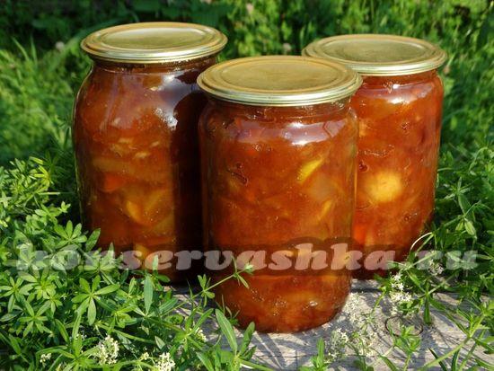 рецепт варенья яблочного с соком апельсина и корицей